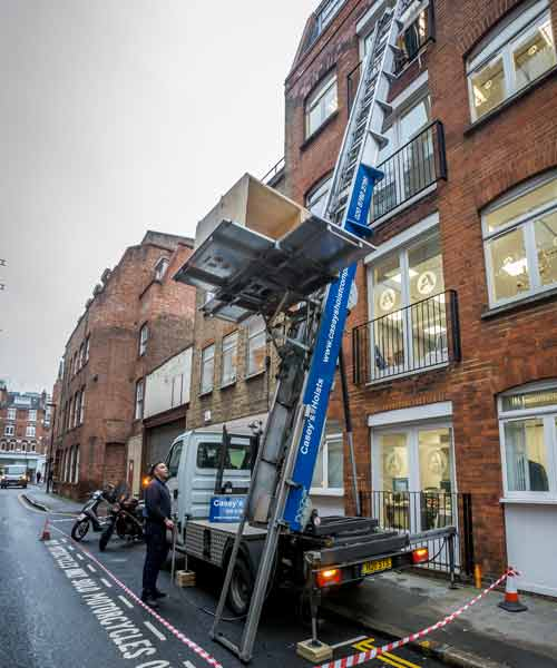 Furniture Hoist Hire Vauxhall SW8 by Caseys Office Relocations