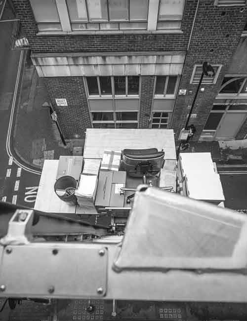 Furniture Hoist Hire Notting Hill by Caseys Office Relocations