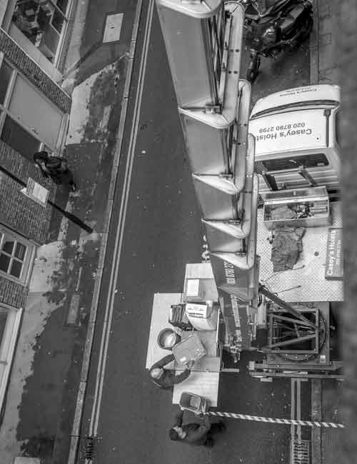 Furniture Hoist Hire Blackheath SE3 by Caseys Office Relocations