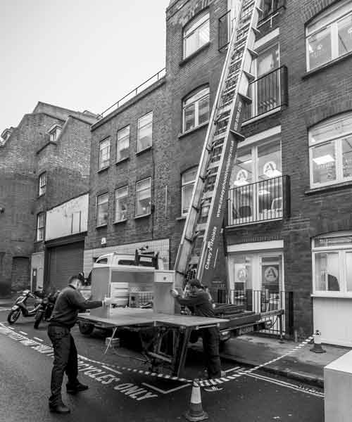 Furniture Hoist Hire Tooting SW17 by Caseys Office Relocations